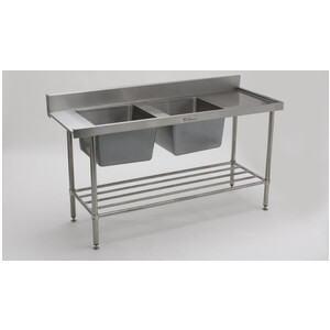Double Sink Dishwasher Inlet Bench