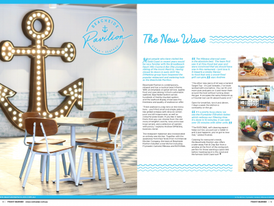 Beachside Pavilion featured in Front Burner Magazine